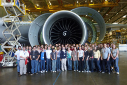 The group of students and advisors who participated in the Washington Aerospace Program in Seattle gathered together in the Museum of Flight. Tonasket senior Peter Williams in the in the middle row, third from the left. Submitted photos