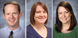 New staff at Oroville Schools includes three new teachers (L-R) Eric Stiles, Jacqueline Marshall and Kelsey Cleveland.