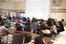 Parents of migrant/bilingual students gathered for a monthly meeting Wednesday, March 21, to allow them to communicate with district administrators and receive topical information useful in assisting their students in learning. This month's meeting addres