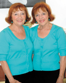 Doris Reynolds and Dee Patterson are this year's Oroville May Festival Grand Marshals. The identical twins say they are proud and excited to be the Grand Marshals and look forward to the May Festival festivities. Photo by Gary DeVon