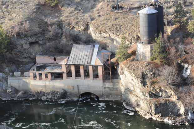 The old powerhouse below Enloe Dam on the west side of the Similkameen. Though in much need of repair, the powerhouse, like the dam, is on the U.S. National Historical Register and is an important part of this area's history.Gary DeVon/staff photo