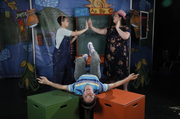 A scene from The Upside Down Boy as performed by the Book-It Repertory Theatre. Photos courtesy of Book-It Repertory Theatre