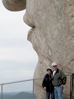 Anna Marie Pridgen with life companion Terry O'Donnel at Crazy Horse Monument in South Dakota