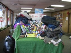 There was still room left in the bed of the truck at OK Chevrolet for food and coat donations the week before the drive finished. Until 5 p.m. on Thursday, Dec. 31 food donations could still be made to help the Tonasket Food Bank and coat donations can be