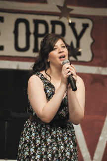 """Cierra Williams performs """"Jesus, Take the Wheel"""" at the Nashville Country Star state finals at the Omak PAC on Saturday, March 31. Brent Baker photos"""
