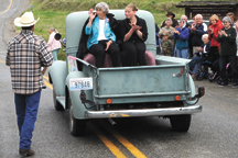 Barbara Dart, born in nearby Havillah, moved with her family to the Nine Mile area when she was five, attending the Nine Mile School from first to fourth grade. She was this year's Grand Marshal and led the parade. Photo by Gary DeVon