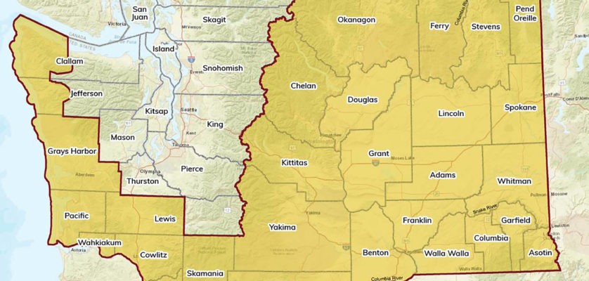 DOE Map Counties included in the drought advisory as of May 27 are outlined in red.